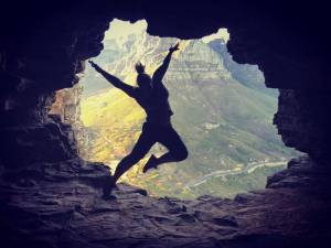 Me jumping around in Wally's Cave